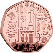 UK 50 Pence (Team of Great Britain at the 2021 Olympics) 2020 DK TEAM GB coin reverse