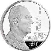 UK 500 Pounds (HRH The Prince Philip) HRH THE PRINCE PHILIP DUKE OF EDIMBURG 1921 2021 coin reverse
