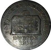 UK One Penny Token (Staffordshire - Burton J. Pardoe) PAYABLE BY JAMES PARDOE BURTON 1814 coin obverse