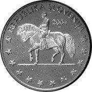 Slovenia 1 Euro cent (Probe) X# Pn1 REPUBLIKA SLOVENIJA 2004 coin obverse