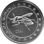 Slovenia 10 Euro Cent (Pattern) X# Pn4 REPUBLIKA SLOVENIJA 2004 coin obverse