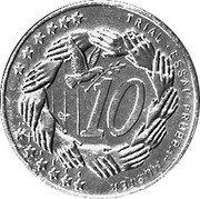 Slovenia 10 Euro Cent (Pattern) X# Pn4 TRIAL ESSAI PRUEBA... 10 coin reverse
