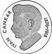 Slovenia 10 Lip (Ivan Cankar) X# Tn10 IVAN CANKAR 1876- 1918 coin reverse