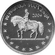 Slovenia 2 Euro Cent (Probe) X# Pn2 REPUBLICA SLOVENIJA 2004 coin obverse