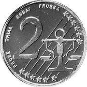 Slovenia 2 Euro Cent (Probe) X# Pn2 PROBE TRIAL ESSAI PRUEBA 2 coin reverse