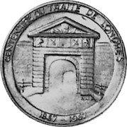 Luxembourg 40 Francs (100th Anniversary of London Treaty) X# M10 CENTENAIRE DU TRAITE DE LONDRES N J L 1867 - 1967 coin reverse