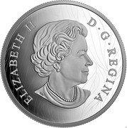Canada 100 Dollars Wolf Sketch by Robert Bateman 2021 ELIZABETH II D G REGINA SB coin obverse