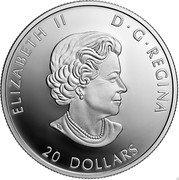 Canada 20 Dollars Generations. Inuit Nunangat 2021 ELIZABETH II D G REGINA 20 DOLLARS coin obverse
