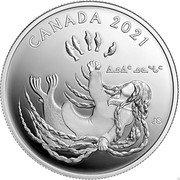 Canada 20 Dollars Generations. Inuit Nunangat 2021 CANADA 2021 JS coin reverse