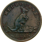 Australia 1/2 Penny 1851 KM# Tn244 Private Token issues MELBOURNE. W.J. TAYLIE, MEDALLIST TO THE GREAT EXHIBITION 1851 coin obverse