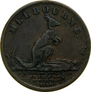Australia 1/2 Penny 1851 KM# Tn254 Private Token issues MELBOURNE. W.J. TAYLIE, MEDALLIST TO THE GREAT EXHIBITION 1851 coin reverse
