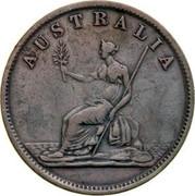 Australia 1/2 Penny 1851 KM# Tn244 Private Token issues AUSTRALIA coin reverse
