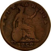 Australia 1/2 Penny 1852 KM# Tn191.2 Private Token issues BRITANNIA 1852 JCT coin reverse