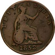 Australia 1/2 Penny 1852 KM# Tn191.3 Private Token issues BRITANNIA 1852 JCT coin reverse
