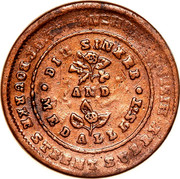 Australia 1/2 Penny 1854 KM# Tn249.2 Private Token issues MEDALLISIT DIE SINKER coin obverse