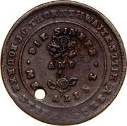 Australia 1/2 Penny 1854 KM# Tn249.1 Private Token issues MEDALIST DIE SINKER coin obverse