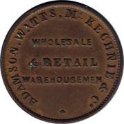 Australia 1/2 Penny 1855 KM# Tn8.1 Private Token issues ADAMSON, WATTS, MCKECHNIE & CO. WHOLESALE & RETAIL WAREHOUSEMEN coin obverse