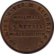 Australia 1/2 Penny 1855 KM# Tn8.2 Private Token issues ADAMSON, WATTS. MCKENNIE & CO WHOLESALE & RETAIL WAREHOUSEMEN coin obverse
