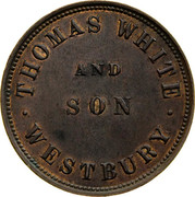Australia 1/2 Penny 1855 KM# Tn269 Private Token issues WHITE AND SON WESTBURY coin obverse