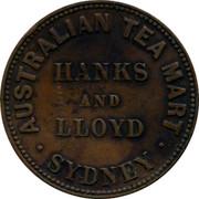 Australia 1/2 Penny 1857 KM# Tn83.1 Private Token issues AUSTRALIAN TEA MART HANKS LLOYD SYDNEY coin obverse