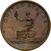 Australia 1/2 Penny 1857 KM# Tn245 Private Token issues UNITED STATES coin reverse