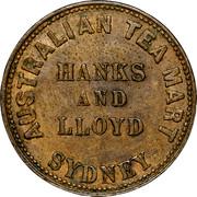 Australia 1/2 Penny Hanks & Lloyd Token 1857 KM# Tn83.2 - coin obverse
