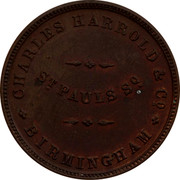 Australia 1/2 Penny ND KM# Tn291 Foreign Token issues CHARLES HARROLD & CO. BIRMINGHAM ST PAULS SQ coin obverse
