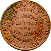 Australia 1/2 Penny ND KM# Tn217 Private Token issues MILITARY ORNAMENTS & BUTTON coin reverse