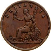 Australia 1/2 Penny ND KM# Tn181 Private Token issues BRITANNIA coin reverse