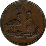 Australia 1/2 Penny ND KM# Tn130 Private Token issues - coin reverse