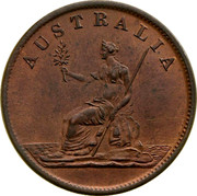 Australia 1/2 Penny ND KM# Tn255 Private Token issues AUSTRALIA coin reverse