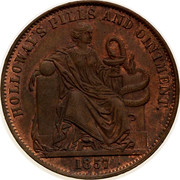 Australia 1/2 Penny (Professor Holloway) KM# Tn277.1 HOLLOWAY'S PILLS AND OINTMENT coin reverse