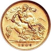 Australia 1/2 Sovereign Edward VII 1906 KM# 14 M B.P. 1906 coin reverse