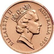 Australia 1 Cent Glider 1990 Proof KM# 78 ELIZABETH II AUSTRALIA *YEAR* RDM coin obverse