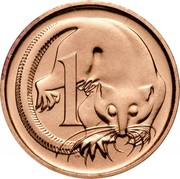 Australia 1 Cent Glider 1990 Proof KM# 78 1 SD coin reverse