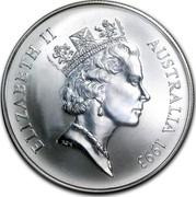 Australia 1 Dollar Australian Kangaroo 1993 KM# 211.2 ELIZABETH II AUSTRALIA 1993 RDM coin obverse