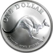 Australia 1 Dollar Australian Kangaroo 1993 KM# 211.2 ONE DOLLAR C 1 OUNCE FINE SILVER HH coin reverse