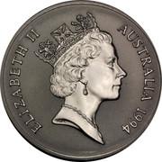 Australia 1 Dollar Australian Kangaroo 1994 KM# 263.1 ELIZABETH II AUSTRALIA 1994 RDM coin obverse