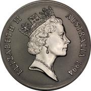 Australia 1 Dollar Australian Kangaroo 1994 KM# 263.2 ELIZABETH II AUSTRALIA 1994 RDM coin obverse