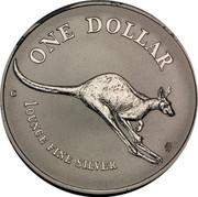 Australia 1 Dollar Australian Kangaroo 1994 KM# 263.1 ONE DOLLAR C 1 OUNCE FINE SILVER HH coin reverse