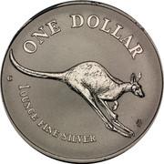 Australia 1 Dollar Australian Kangaroo 1994 KM# 263.2 ONE DOLLAR C HH 1 OUNCE FINE SILVER coin reverse