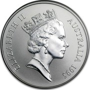 Australia 1 Dollar Australian Kangaroo 1995 KM# 293.2 ELIZABETH II AUSTRALIA 1995 RDM coin obverse