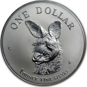 Australia 1 Dollar Australian Kangaroo 1995 KM# 293.1 ONE DOLLAR C HH 1 OUNCE FINE SILVER coin reverse