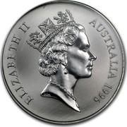 Australia 1 Dollar Australian Kangaroo 1996 KM# 297 ELIZABETH II AUSTRALIA 1996 RDM coin obverse