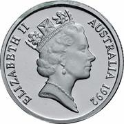 Australia 1 Dollar (Barcelona Olympics) KM# 175a.1 ELIZABETH II AUSTRALIA 1992 RDM coin obverse