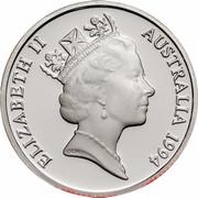 Australia 1 Dollar Decade of Dollars 1994 KM# 258a.1 ELIZABETH II AUSTRALIA 1984 RDM coin obverse