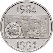 Australia 1 Dollar Decade of Dollars 1994 KM# 258a.2 1984 AUSTRALIA 1 DOLLAR 1994 coin reverse
