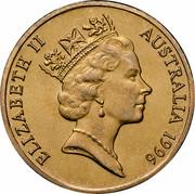 Australia 1 Dollar (Father of Federation - Sir Henry Parkes) KM# 310 ELIZABETH II AUSTRALIA 1996 RDM coin obverse