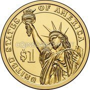 USA 1 Dollar Gerald R. Ford 2016D Position B KM# 620 UNITED STATES OF AMERICA $1 coin reverse