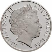 Australia 1 Dollar HMAS Sydney II 2000 KM# 422a ELIZABETH II AUSTRALIA 2000 IRB coin obverse